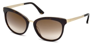 Tom Ford FT461 Dark Havana with Gradient Brown Flash Mirror Lenses