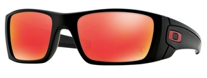 Oakley Fuel Cell OO9096 A8 Scuderia Ferrari: Matte Black with Ruby Iridium Lenses