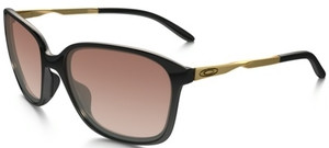 Oakley Game Changer OO9291 Polished Black/Satin Gold with VR50 Brown Gradient Lenses