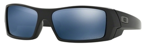 Oakley GasCan OO9014 26-244 Matte Black with Ice Iridium Polarized Lenses