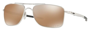 Oakley Gauge 8 OO4124 05 Polished Chrome with Tungsten Iridium Polarized Lenses