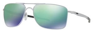 Oakley Gauge 8 OO4124 04 Matte Lead with Jade Iridium Lenses