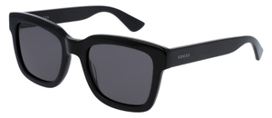 Gucci GG0001S Black with Smoke Lenses
