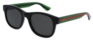 Gucci GG0003S Black With Grey Polarized Lenses