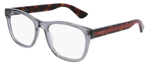 Gucci GG0004O Grey with Havana/Red Temples