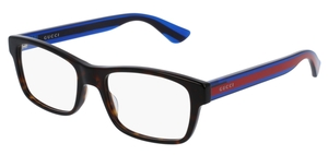 Gucci GG0006O Havana with Blue/Red Temples 003