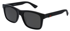Gucci GG0008S Black with Polarized Grey Lenses