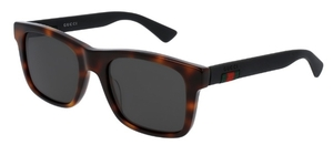 Gucci GG0008S Tortoise with Polarized Grey Lenses