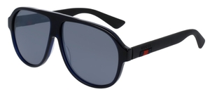Gucci GG0009S Black with Grey Silver Mirror Lenses