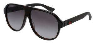 Gucci GG0009S Dark Tortoise with Black Temples and Brown Gradient Lenses