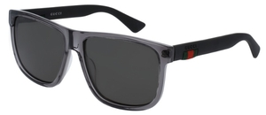 Gucci GG0010S Crystal Grey with Polarized Grey Lenses