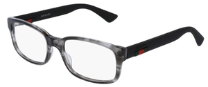 Gucci GG0012O Grey with Black Temples