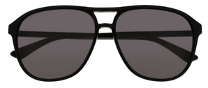 Gucci GG0016S Black with Polarized Grey Lenses