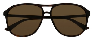 Gucci GG0016S Dark Tortoise with Brown Lenses