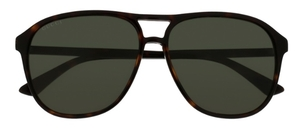 Gucci GG0016S Dark Tortoise with Polarized Green Lenses