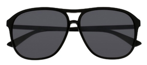 Gucci GG0016SA Black with Grey Silver Mirror Lenses