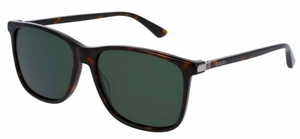 Gucci GG0017S Havana with Green Lenses