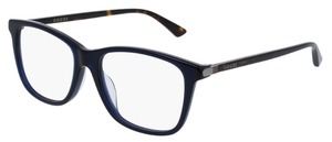 Gucci GG0018OA Asian Fit Blue with Havana Temples