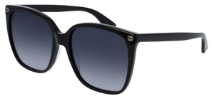 Gucci GG0022S Black with Grey Gradient Lenses