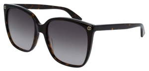 Gucci GG0022S Tortoise with Grey Gradient Lenses