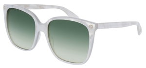 Gucci GG0022S White Pearl with Green Gradient Lenses