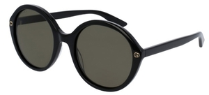 Gucci GG0023S Black with Green Lenses