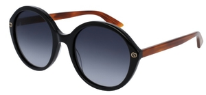 Gucci GG0023S Black with Grey Gradient Lenses