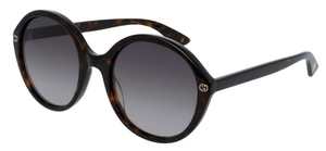 Gucci GG0023S Dark Tortoise with Brown Gradient Lenses