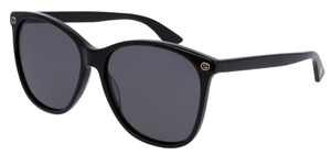 Gucci GG0024S Black with Grey Lenses