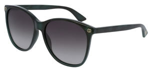 Gucci GG0024S Black/Dark Teal with Brown Gradient Lenses