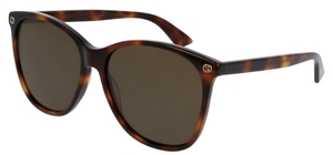 Gucci GG0024S Tortoise with Brown Lenses