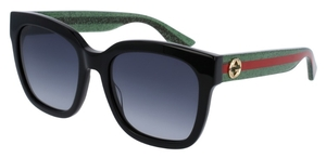 Gucci GG0034S Black with Grey Gradient Lenses