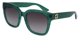 Gucci GG0034S Green with Brown Gradient Lenses