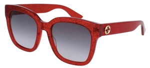 Gucci GG0034S Red with Grey Gradient Lenses