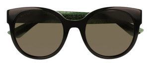 Gucci GG0035S Black with Green Lenses