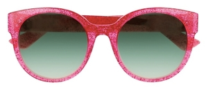 Gucci GG0035S Pink with Green Gradient Lenses