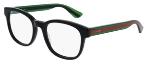 Gucci GG0005O Black with Green/Red Temples