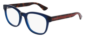 Gucci GG0005O Blue with Havana/Red Temples