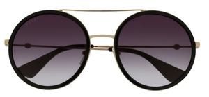 Gucci GG0061S Gold/Black with Grey Gradient Lenses