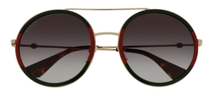 Gucci GG0061S Gold/Green/Red with Green Gradient Lenses