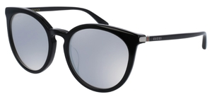 Gucci GG0064SK Black with Silver Mirror Lenses