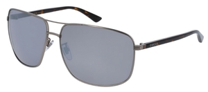 Gucci GG0065SK Pewter with Silver Mirror Lenses