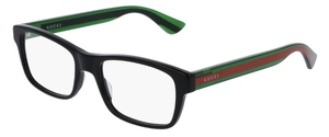 Gucci GG0006O Black with Green/Red Temples 006