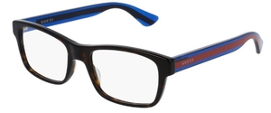 Gucci GG0006O Havana with Blue/Red Temples 007