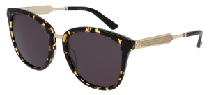 Gucci GG0073S Japanese Tortoise with Grey Lenses