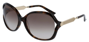 Gucci GG0076S Tortoise with Brown Gradient Lenses