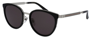 Gucci GG0077SK Black with Grey Lenses