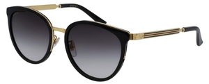 Gucci GG0077SK Black/Gold with Grey Gradient Lenses