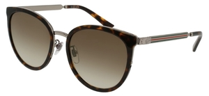Gucci GG0077SK Tortoise with Grey Gradient Lenses