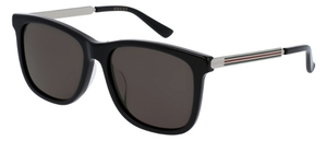 Gucci GG0078SK Black with Grey Lenses